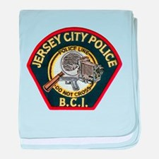 Jersey City Police BCI baby blanket