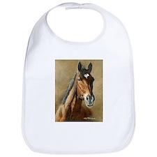 Cute Horse art Bib