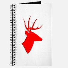 Bright Red Deer Silhouette Journal
