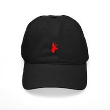 Bright Red Deer Silhouette Baseball Hat