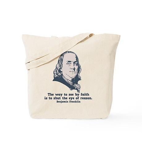 Franklin -Eye of Reason Tote Bag