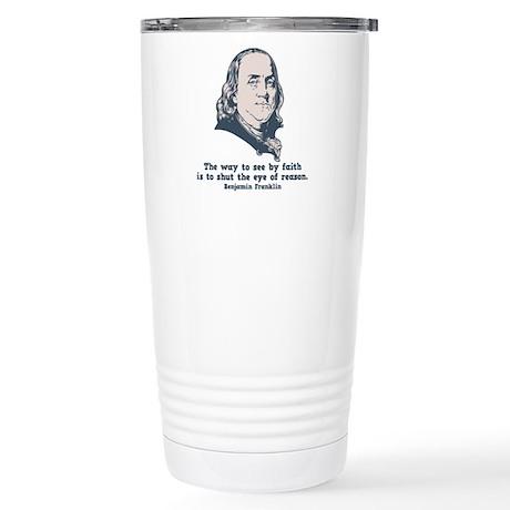Franklin -Eye of Reason Stainless Steel Travel Mug