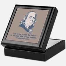 Franklin -Eye of Reason Keepsake Box
