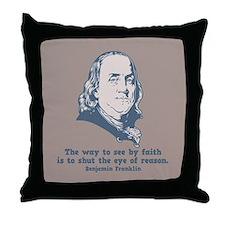 Franklin -Eye of Reason Throw Pillow