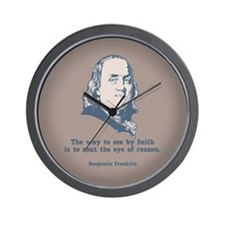 Franklin -Eye of Reason Wall Clock
