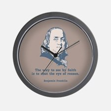 Franklin -Eye of Reason Wall Clock