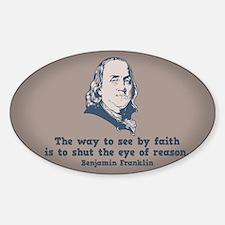 Franklin -Eye of Reason Sticker (Oval)