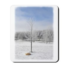 Icy Winter Tree Mousepad