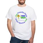Eco-Chick Go Green White T-Shirt