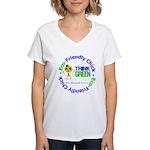 Eco-Chick Go Green Women's V-Neck T-Shirt