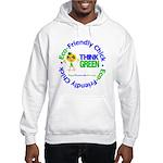 Eco-Chick Go Green Hooded Sweatshirt