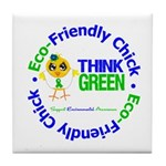 Eco-Chick Go Green Tile Coaster