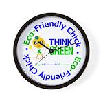 Eco-Chick Go Green Wall Clock