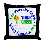 Eco-Chick Go Green Throw Pillow