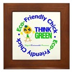 Eco-Chick Go Green Framed Tile