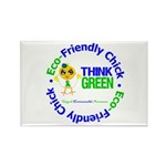Eco-Chick Go Green Rectangle Magnet (100 pack)
