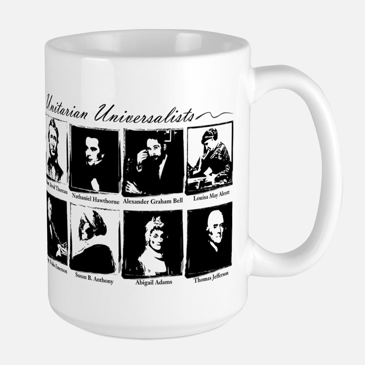 Famous UUs - no tagline Large Mug