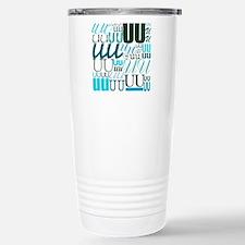UU Typography (Aqua) Travel Mug