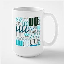 UU Typography (Aqua) Mug