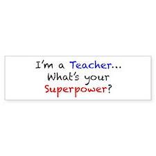 Teacher Superpower Car Sticker