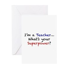 Teacher Superpower Greeting Card