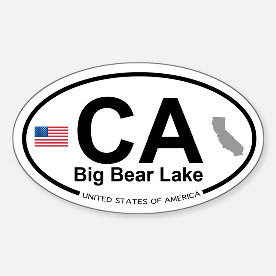 Big Bear Lake Sticker (Oval)