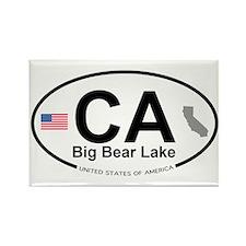 Big Bear Lake Rectangle Magnet