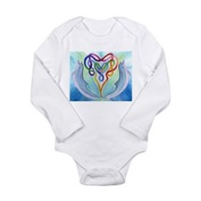 Dolphin and Celtic Knot Heart Long Sleeve Infant B