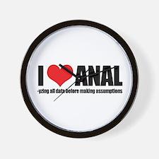 I Love Anal-yzing Wall Clock