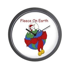 Fleece On Earth Wall Clock