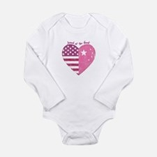Joined at the Heart (pink) Long Sleeve Infant Body