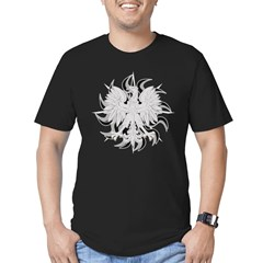 Polish Eagle Sun Men's Fitted T-Shirt (dark)