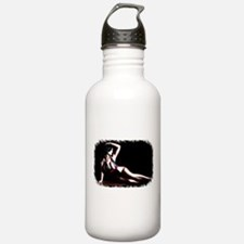 Cool Brunette pinup Water Bottle