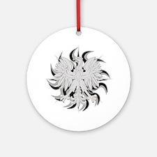 Polish Eagle Sun Ornament (Round)