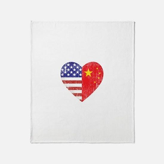 Family Heart Throw Blanket