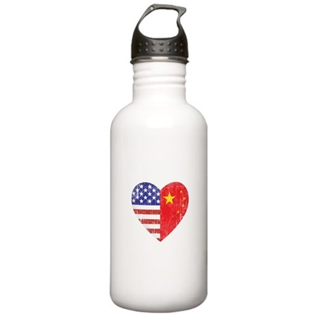 Family Heart Stainless Water Bottle 1.0L