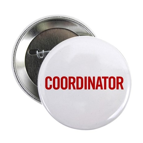 "Coordinator (red) 2.25"" Button (100 pack)"