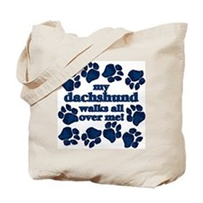 Dachshund WALKS Tote Bag