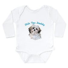 Shih Tzu Daddy Long Sleeve Infant Bodysuit