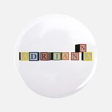 """Adrianna Alphabet Block 3.5"""" Button (100 pack)"""