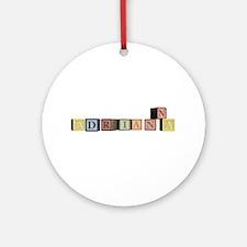 Adrianna Alphabet Block Ornament (Round)