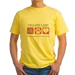 Yellow Lab Pawprints T