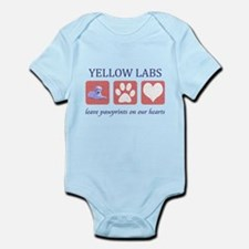 Yellow Lab Pawprints Infant Bodysuit