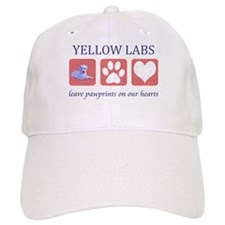 Yellow Lab Pawprints Baseball Cap