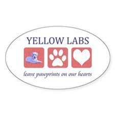 Yellow Lab Pawprints Decal