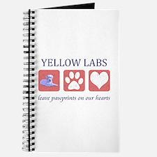 Yellow Lab Pawprints Journal