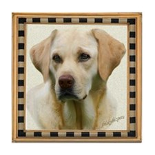 Yellow Lab Faithful Friend Tile Coaster