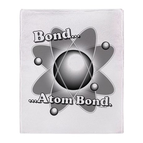 Atom Bond Throw Blanket