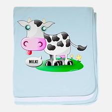 Cute Cow Milk baby blanket