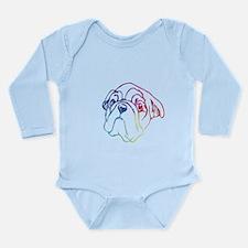 Rainbow Bulldog Long Sleeve Infant Bodysuit